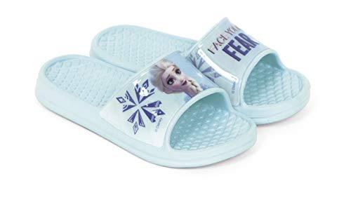 Flip-Flop La Reine des Neiges Disney Elsa Sandales de plage pour fille - - bleu aqua, 30/31 EU EU