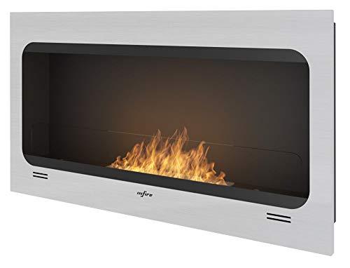 Ethanol Open haard gesinde brand inspiratie voor ingebouwde en muur installatie INOX geborsteld frame met getinte veiligheid glas brander 50 cm brandstoftank 1 liter vlam instelbaar