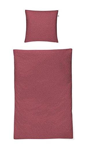 Irisette Mako satijnen beddengoed 4-delig dekbedovertrek 155 x 220 cm kussensloop 80 x 80 cm STREAM robijn