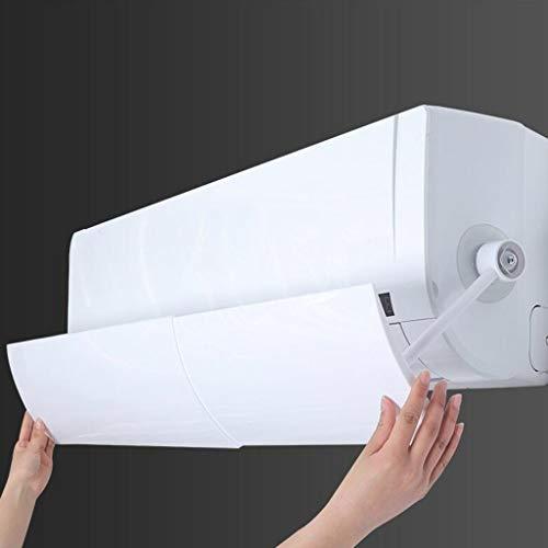 Watopi Deflector de aire acondicionado, fácil de instalar, antirsoplado retráctil, sin herramienta adicional para instalar, escudo de aire acondicionado, deflector de viento para la salud de los niños