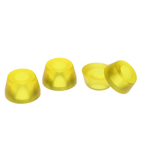 MagiDeal 2-Set Skateboard Longboard Bushings Set 90A - Transparent Gelb