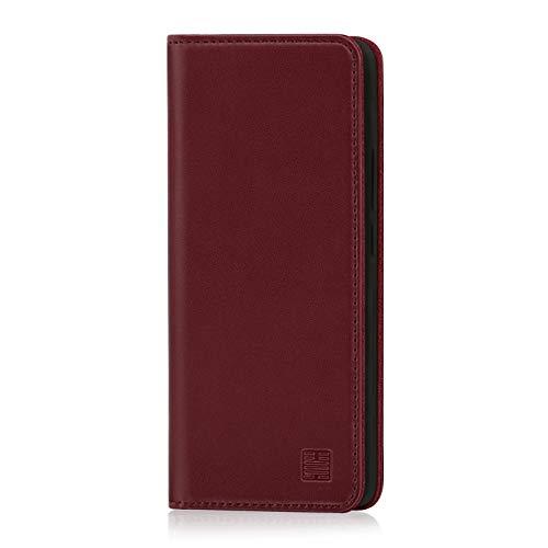 32nd Klassische Series - Lederhülle Case Cover für Nokia 9 PureView (2019), Echtleder Hülle Entwurf gemacht Mit Kartensteckplatz, Magnetisch & Standfuß - Burg&er