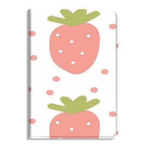 Schutzhülle für iPad Air 4. Generation 2020, PU-Leder, mit Standfunktion, Motiv Erdbeeren
