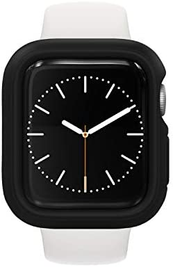 RhinoShield Bumper Case Compatible with Apple Watch SE & Series 6 / 5 / 4 – [40mm] | Slim Protective Cover, Lightweight and Shock Absorbent – Black