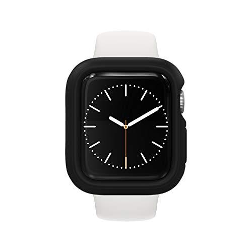 RhinoShield Bumper Case kompatibel mit Apple Watch SE & Serie 6/5 / 4 - [44mm] | CrashGuard NX - Stoßabsorbierende Dünn Designte Schutzhülle 1.2M Fallschutz - Schwarz