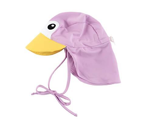 Cuddle Club Baby Erstausstattung Verstellbarer Sonnenhut für Babys und Kinder | LSF 50+ Ganztägiger UV-Schutz für Kopf und Nacken - SunhatPenguinPurpleS
