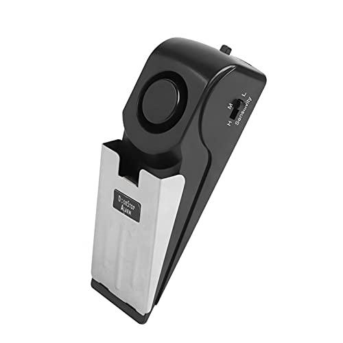 Tope de Puerta en Forma de cuña, tamaño pequeño, Alerta portátil, Alarma de Seguridad Inteligente antirrobo, Material de plástico ABS antirrobo para el hogar