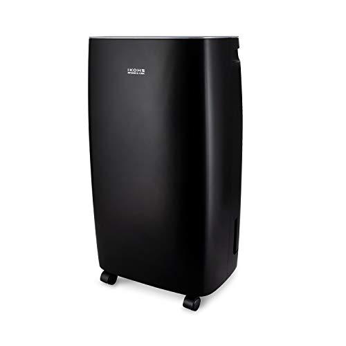 IKOHS DRYZONE XL - Deshumidificador eléctrico, Capaz de eliminar hasta 10 l de humedad diaria, Silencioso, Temporizador, Pantalla táctil, para Habitaciones y Estancias grandes 40m² (Negro hasta 10 L)
