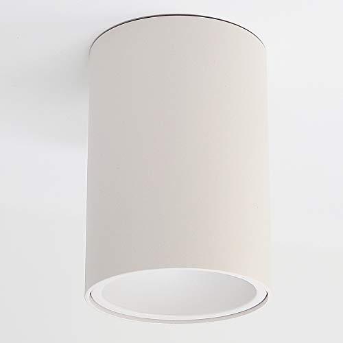 Aufbauleuchte Aufbaustrahler Aufputz SUNNY (rund, weiss-matt) GU10 Fassung 230V Deckenleuchte Strahler Deckenlampe Würfelleuchte Kronleuchter aus Aluminium Spot - ohne Leuchtmittel