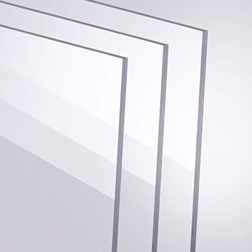 Acrylglas 2-10mm GS PMMA Transparent Glasklar Zuschnitt Scheibe Materialstärke und Größe Wählbar (2 mm, 500 x 1000 mm)