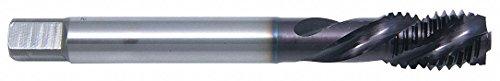 Spiral Flute Tap, 4-48, Semi-Bottoming, UNF, 3 Flutes, Black Oxide