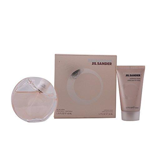 Jil Sander Sensations Geschenkset femme / woman, Eau de Toilette Vaporisateur / Spray 40 ml, Bodylotion 50 ml, 1er Pack (1 x 90 ml)