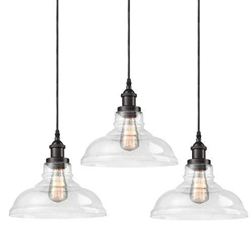 CLAXY Ecopower Industrial Pendant Lighting Glass Oil...