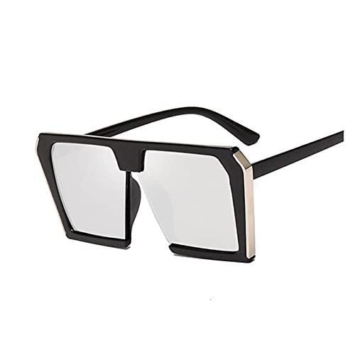 ZHHOOHAG Gafas De Sol Vintage Gafas de Sol cuadradas de la Vendimia Mujeres de Gran tamaño de la Marca de Lujo de la Moda de Las Gafas de Sol Femenino Dama Sombras UV400 Gafas De Sol Polarizadas