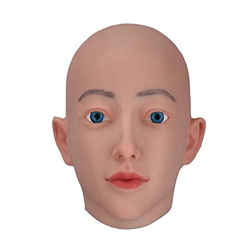 Jolie Realistisch Weibliche Kopfmaske Handgemacht Latex Schutzmaske für Crossdresser Transgender Halloween Kostüme