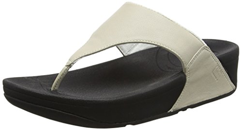 FitFlop Women's Lulu Thong Sandal,Antique White,8 M US