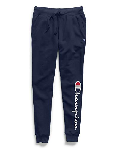 Champion Women's Powerblend Jogger, Athletic Navy Graphic, X Large