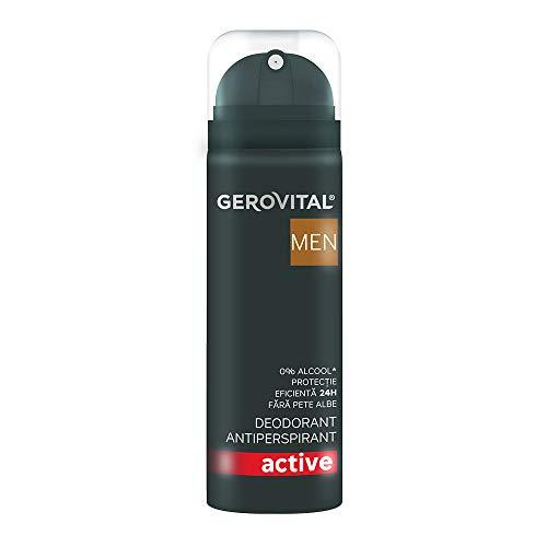 Gerovital Men, Desodorante - Antitranspirante Active, Cuidado corporal Antitranspirante, 150 ml