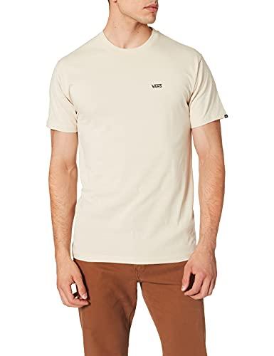 Vans Left Chest Logo tee Camiseta, Avena-Negro, L para Hombre
