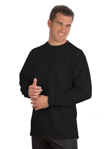 Qualityshirts Basic Sweatshirt, Gr. 5XL, schwarz