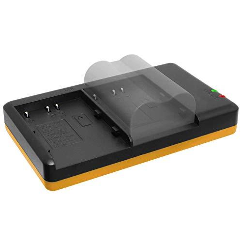 Dual-Ladegerät (Netz, USB) für Olympus BLM-1 BLM-5 /C-7070, C-8080 /E-3, E-5, E-30, E-300, E-330, E-520 … s.Liste - inkl. 2A Netzteil (2 Akkus gleichzeitig ladbar)