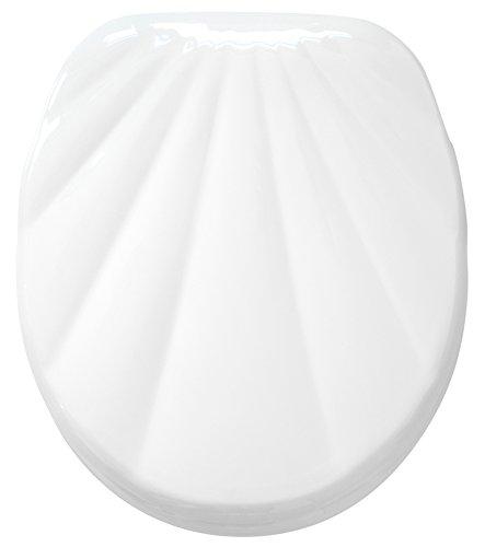 WC Sitz mit Absenkautomatik, hochwertige Oberfläche, einfache Montage, stabile Scharniere, Muschel Weiß