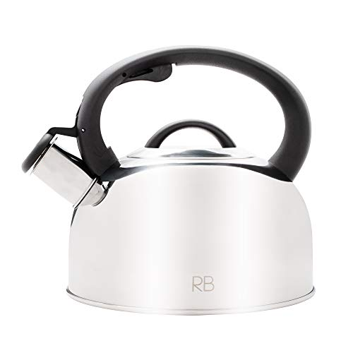 Tea Kettle for Stove Top - 2.6 Quart Food-Grade Stainless Steel Tea Kettle with Safe to Touch Ergonomic Handle AND 5-Layered Base that Heats Fast- Kettle Stovetop - Tea Kettles - Tea pots for Stovetop