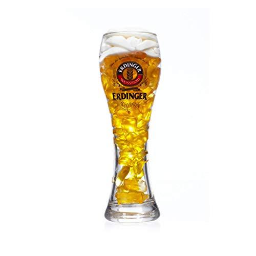 Weizenbierglas 0,3l mit Bierfruchtgummi Fruchtgummi mit Biergeschmack