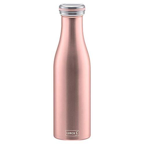 Lurch 240905 Isolierflasche / Thermoflaschefür heiße und kalte Getränke aus doppelwandigem Edelstahl 0,5l, rosegold