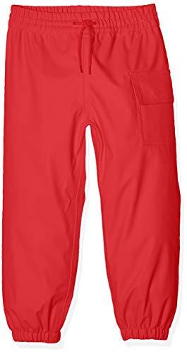 Hatley Mädchen Childrens Splash Pant -Red Regenhose, Rot-Rot, 7 Jahr