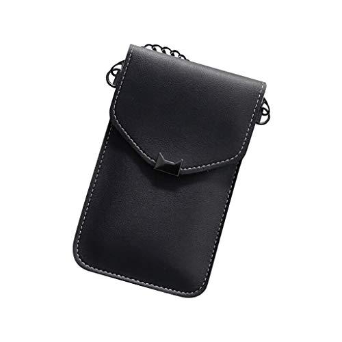 Universal Handyhülle Wasserdich Umhängetasche, 2 in 1 Handtasche Handyhülle Schutzhülle Handy Tasche PU Leder Touchscreen Funktion Leder Mobile Bag Protective Case Handy Tasche (Dunkelgrau)