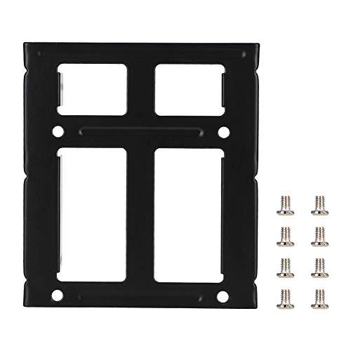 Tonysa Verdicken Sie die zweilagige Festplattenhalterung, 2,5 bis 3,5-Notebook-Laptop-SSD-Einschub mit Schrauben für 2,5-Zoll-Notebook-Festplatten, 2,5-Zoll-SSD-Solid-State-Laufwerk