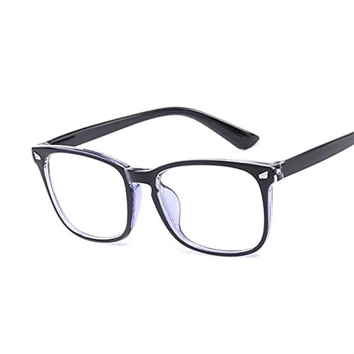 QSLS 1 pc Vintage Square Clear Glass Women Transparent Lens Gafas Marco Ladies Eyeglases ópticos Marco Unisex Regalo (Lenses Color : Blue)