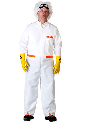 Back to The Future Doc Brown Fancy Dress Costume Small