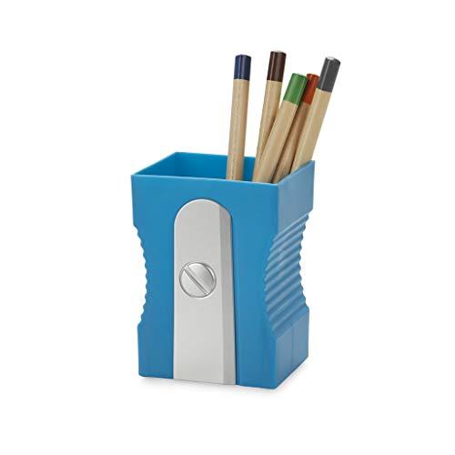 Balvi Portalápices Sharpener Color Azul Mantén tu Escritorio organizado Portalápices Original y Divertido en Forma de sacapuntas Plástico ABS/PP