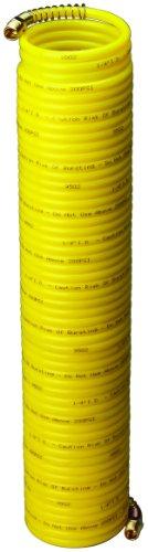 Amflo 4-50E-RET Yellow 200 PSI Nylon Recoil Air Hose 1/4 x 50 With 1/4 MNPT Swivel End Fittings