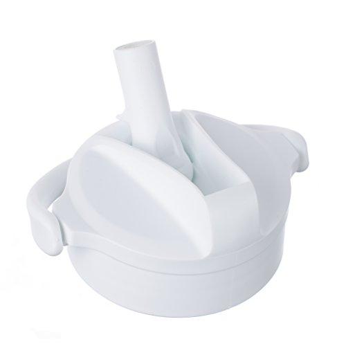 Lifefactory 17794 Pivot Straw Cap Glas-Trinkflaschen (350ml, 475ml und 650ml), arctic white, weiß