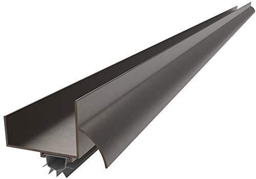 CRL Dark Bronze Anodized'U' Shape Door Bottom - 48'
