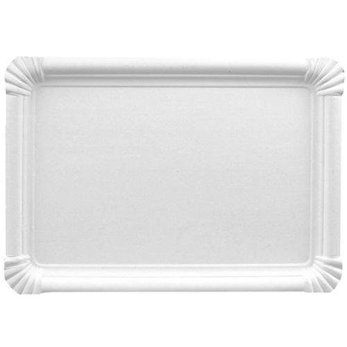 250 Teller Pappe eckig 18 cm x 26 cm weiss Pappteller Kuchenplatte