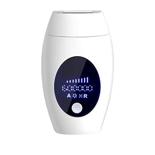 Byuru Epilierer Achtgang-Laser Smart-Körperhaarentfernung Hautverjüngung Zurück Achsel Lippen Privat Parts Home Use Painless Big Screen (Color : White)