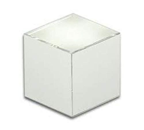 Ten blokjes presse-papier van wit glas cod.EL35030 cm 6x6x6h by Varotto & Co.