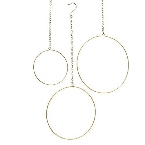 3 x Hänger Ring Rumba Gold D20-35 cm