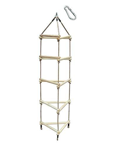 H2i - Scala da arrampicata per bambini, 3 lati con moschettone per...