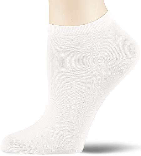 KUNERT Damen Finest Cotton Socken, Weiß (White 0010), 39/42