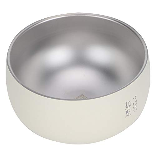 Cuenco Cuenco de arroz de Acero Inoxidable Vajilla de Estilo(316 Jane Eyre Double Bowl: White Contentment)