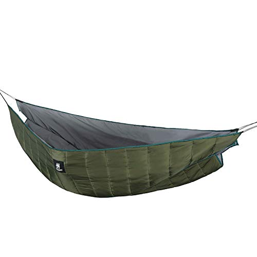 1T Hammock Underquilt, Lightweight Camping Quilt, Packable Full Length Under Blanket (OD Green - Winter Underquilt)