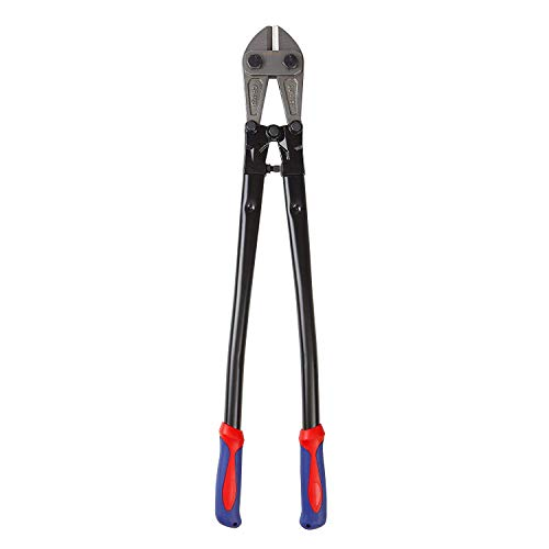 "WORKPRO W017007A Bolt Cutter, Bi-Material Handle with Soft Rubber Grip, 30"", Chrome Molybdenum Steel Blade"