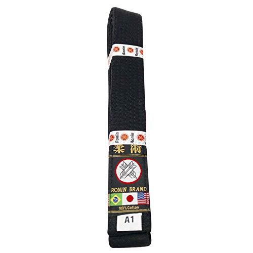 Ronin Jiu Jitsu BJJ Gi Belt – Brazilian Jiu Jitsu Belt with Poly/Cotton Fabric – White, Blue, Purple, Brown, Black…