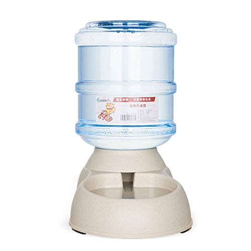 Monllack alimentador, Bebedero automático para Mascotas Suministro por Gravedad Bebedero para Gatos y Perros Bebedero automático para Mascotas de Gran Capacidad (dispensador de Agua)