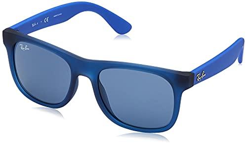 Ray-Ban 0RJ9069S-706080-48 Occhiali da Lettura, Rubber Trasp Blue, 48 Unisex-Adulto